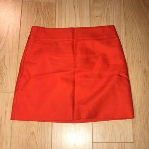 J Crew Orange Pencil Skirt NWT